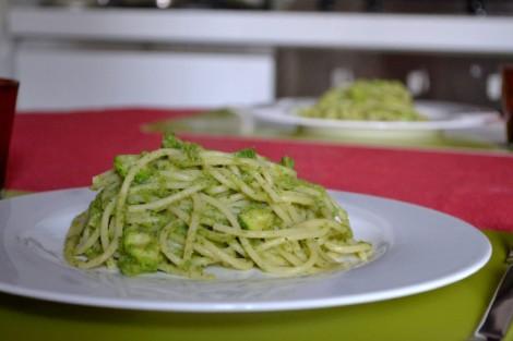 Spaghetti with Zucchini & Mint Cream (631)