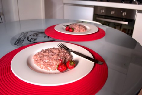 Strawberry Brown Rice Risotto
