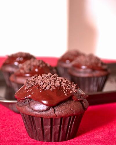 Vegan, Refined Sugar-Free Sakertorte Cupcakes 3