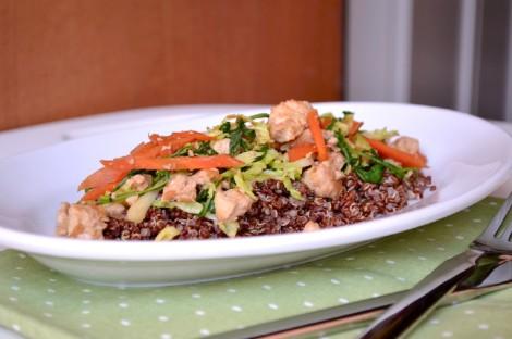 Red Quinoa with Stirfried Veggies(DSC_0512)