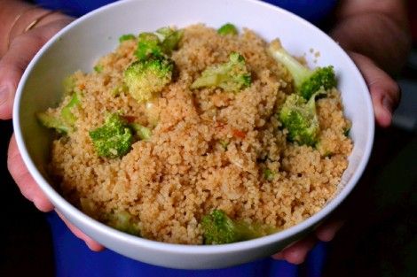 Couscous, Broccoli and Almond Salad (DSC_1148)