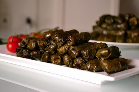Lebanese Stuffed Grape Vine Leaves-Warak Arish (DSC_0293)