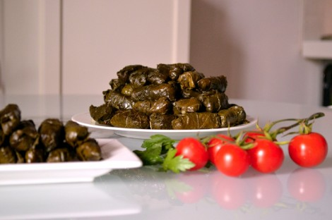 Lebanese Stuffed Grape Vine Leaves-Warak Arish (DSC_0295)