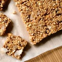 No Bake Cashew-Coconut Quinoa Squares