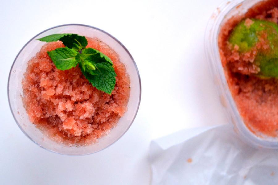 Watermelon Mint Granita | Harmony à la Carte