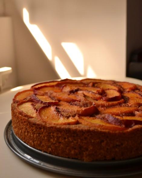 Caramelized Peach Cake (DSC_1014)