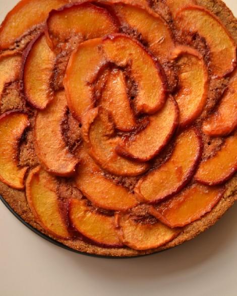 Caramelized Peach Cake (DSC_1015)
