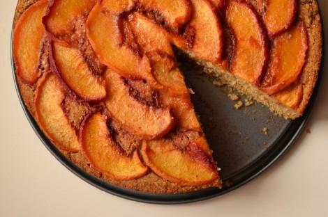 Caramelized Peach Cake (DSC_1017)