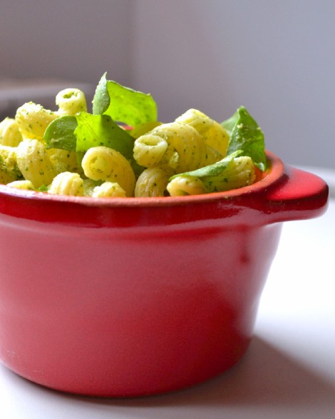 Cold Kamut Cavatappi with Peppery Arugula & Cashew Pesto (CSC_0103)