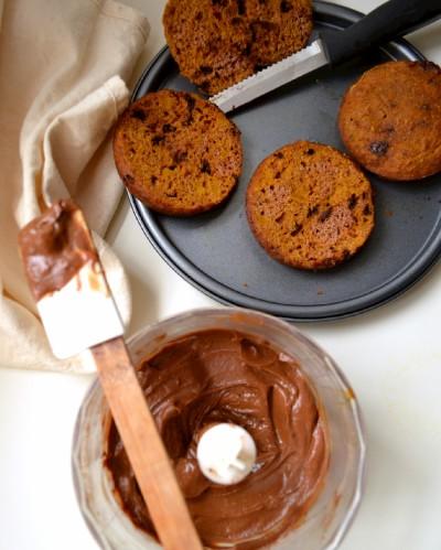 Kabocha Chocolate Mini Layer Cake with Avocado Cacao Buttercream (DSC_0069)