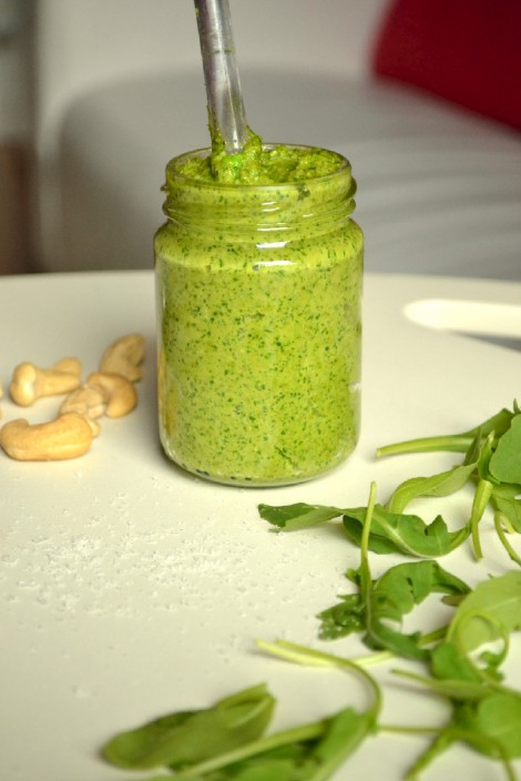 Peppery Arugula & Cashew Pesto (DSC_0098edited)