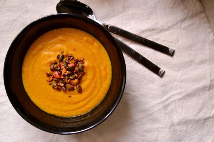 Curried Coconut Carrot & Millet Soup (DSC_0380)
