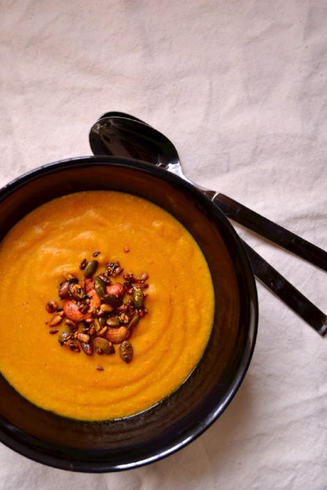Curried Coconut Carrot & Millet Soup (DSC_0381)