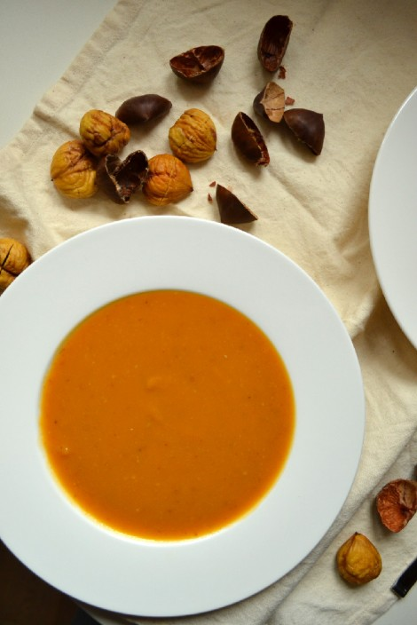 Roasted Butternut Squash & Chestnut Soup (DSC_0831)
