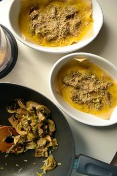 Artichoke Lasagne with Saffron Bechamel (DSC_0390)