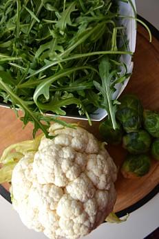 Roasted Cauliflower Couscous & Balsamic Roasted Brussels (DSC_0356)