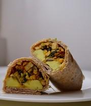 Tempeh Scramble Wrap & Salad (DSC_0654)