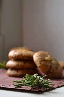 Vegan, Gluten Free, Rosemary Lemon Pine Nut Cookies (DSC_0490)