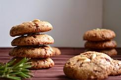 Vegan, Gluten Free, Rosemary Lemon Pine Nut Cookies (DSC_0502)