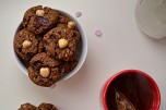 Buckwheat, Hazelnut & Chocolate Chunk Cookies