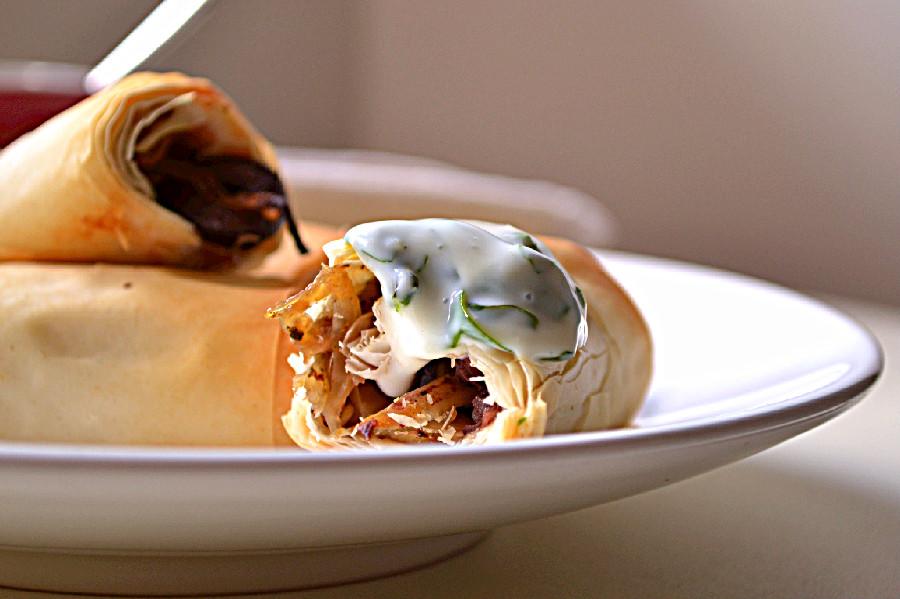 Caramelized Fennel & Onion Filo Rolls | Harmony à la Carte