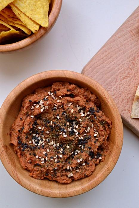 Sundried Tomato & Black Olive Hummus (DSC_0333)