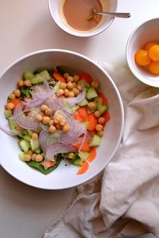 Brown Basmati Rice Salad w Tangy Miso Dressing (DSC_0393)
