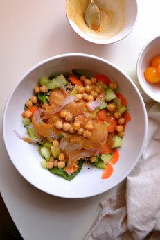 Brown Basmati Rice Salad w Tangy Miso Dressing (DSC_0397)