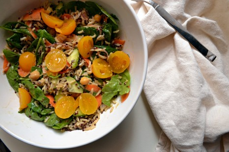 Brown Basmati Rice Salad w Tangy Miso Dressing (DSC_0408)