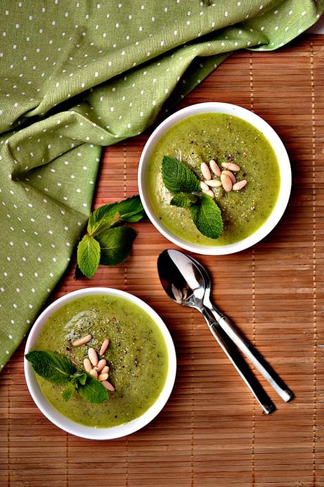 Zucchini & Mint Soup (DSC_0575)